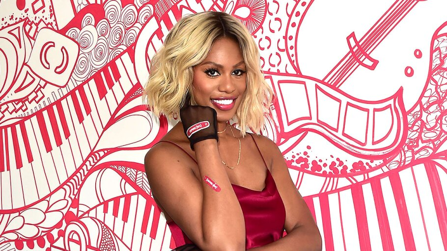 (BAND-AID?)RED spokesperson Laverne Cox