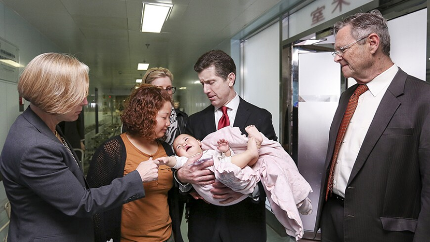 Alex Gorsky, Johnson & Johnson CEO and Chairman, Meeting with Families in China on an Operation Smile Mission