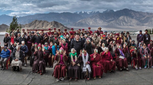 People given cataract surgeries by Himalayan Cataract Project, an organization devoted to eliminating preventable and curable blindness
