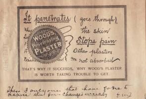 An early Johnson & Johnson ad featuring Edward Mead Johnson's handwritten notes