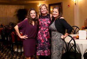 Stroke survivor Lisa Deck with her Sisters@Heart cofounders