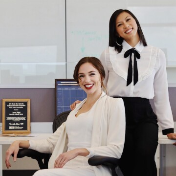 The Natural Nipple co-founders Lauren Wright (left) and Tram Pham