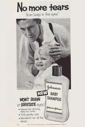 Vintage Johnson's® Baby Shampoo Advertisement from 1954