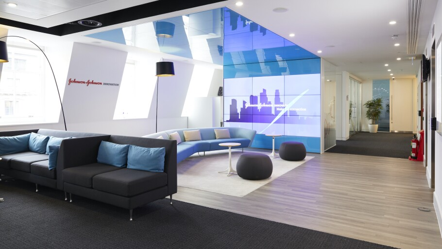 The lobby of Johnson & Johnson Innovation Centre in London