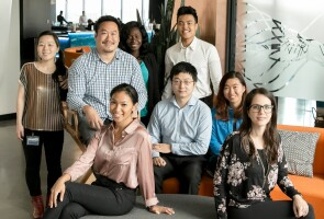 Ted Jin with the DoseBiome team