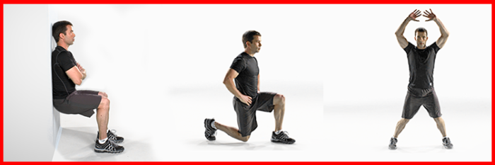 Wall Sits, Lunges and Jumping Jacks from The Johnson & Johnson Official 7 Minute Workout® App