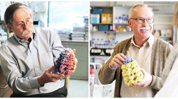 2019 Dr. Paul Janssen Award winners Arthur Horwich, M.D., (left) and Franz-Ulrich Hartl, M.D.