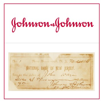 The Johnson & Johnson logo and the signature that was the original inspiration.