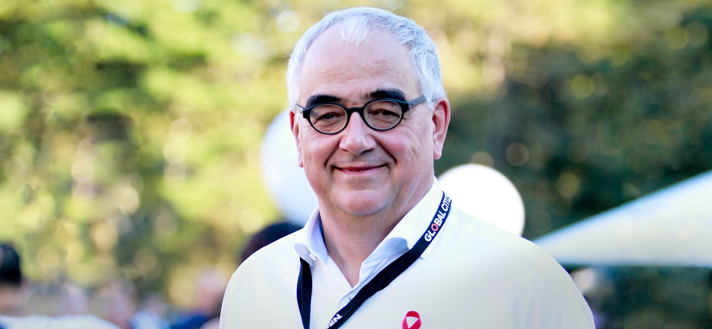Dr. Paul Stoffels, Johnson & Johnson Chief Scientific Officer, at 2017 Global Citizen Festival