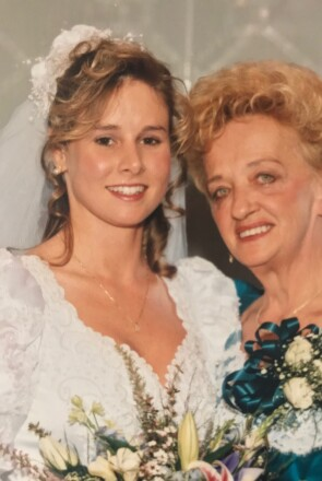 Michelle Dickinson, Then 23, With Her Mother on Her Wedding Day
