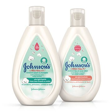 Products from the Johnson's® CottonTouch™ line