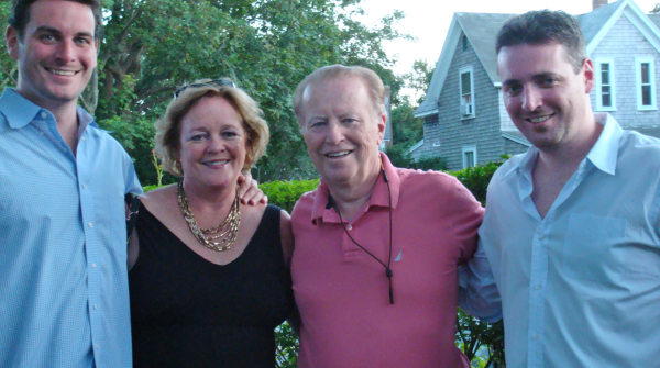 Ron Scolamiero with his wife and two of his sons
