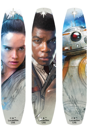 Star Wars BAND-AID® Brand Adhesive Bandages Featuring Rey, Finn and BB-8