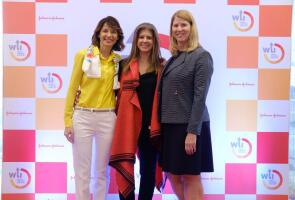 Luly de Samper (center) with global co-leads of Johnson & Johnson's Women's Leadership & Inclusion initiative, Silvia De Dominicis and Carol Montandon