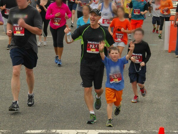 running with kids