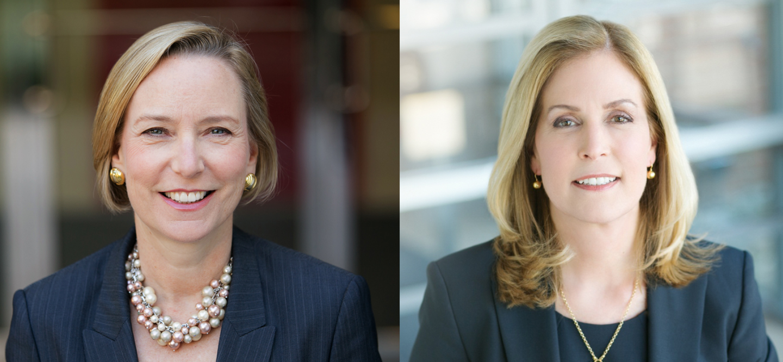 Johnson & Johnson's Sandi Peterson (left) and Jennifer Taubert from Fortune's 2017 Most Powerful Women List