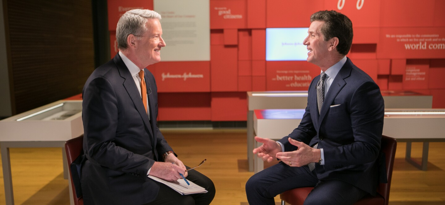 David Westin and Johnson & Johnson Chairman and CEO Alex Gorsky Sat Down for An Interview for Bloomberg Big Decisions