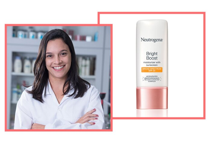 Anna Trondoli, Senior Scientist, Skin Health, Johnson & Johnson do Brasil Industria E Comercio de Produtos Para Saude Ltda. with Bright Boost Moisturizer with Broad Spectrum SPF 30.