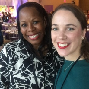 Mentor Alma Scott, Vice-President, Operations and Partnerships, Johnson & Johnson Global Public Health with Mentee Emma Dicks