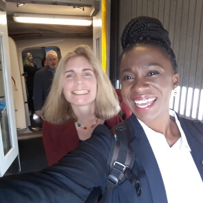 Mentor Beth McCombs, Vice President, Research and Development, Ethicon with Mentee Lerato Motsamai