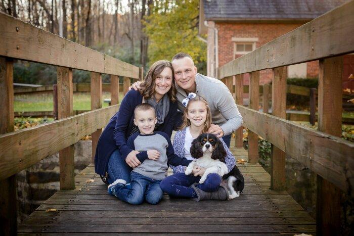 Brad Heidrich with his family