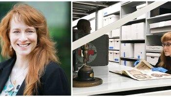 Margaret Gurowitz in the Johnson & Johnson company archives