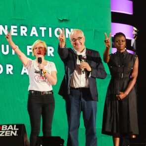 Paul Stoffels, Chief Scientific Officer, Johnson & Johnson, on stage at the 2018 Global Citizen Festival