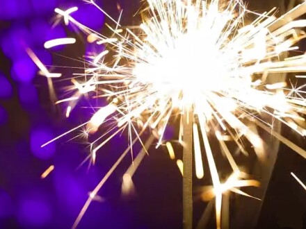 A photo of a sparkler
