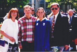 Stroke survivor Lisa Deck on her college graduation day