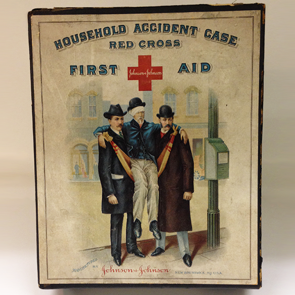 Johnson & Johnson 1920s Household Accident Case First Aid Kit