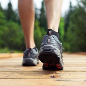 Person walking in sneakers