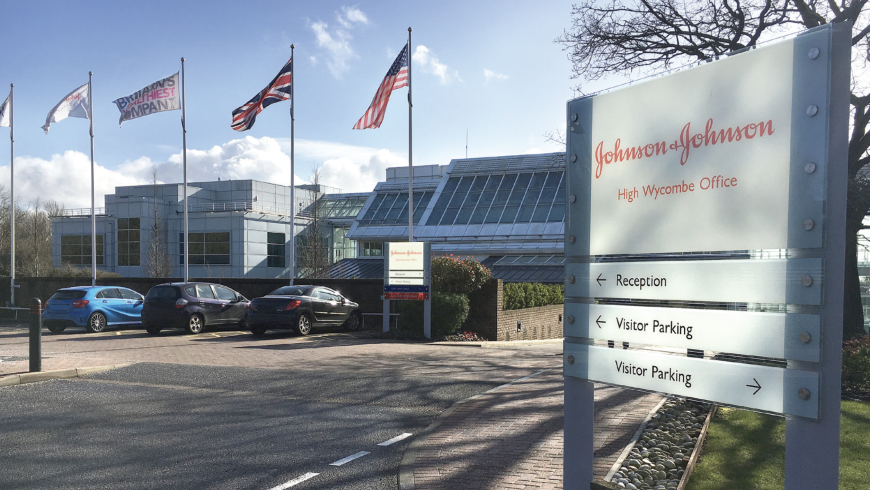Johnson & Johnson's office in High Wycombe, England