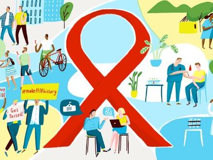 HIV-AIDS graphic