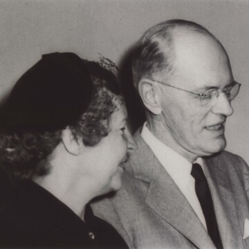 BAND-AID® Brand adhesive bandages inventor Earle Dickson with his wife, Josephine Knight Dickson, in 1953