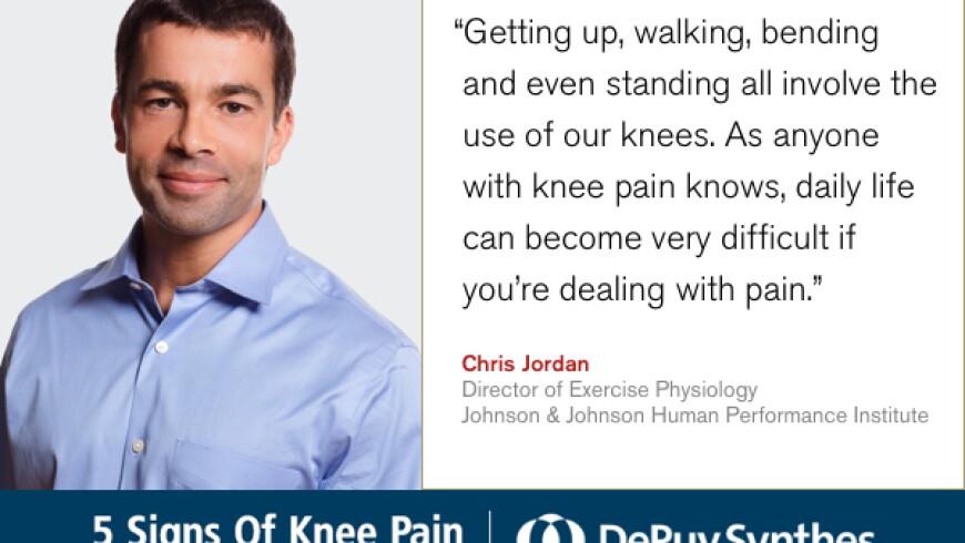 DePuy Synthes Knee Pain Chris Jordan