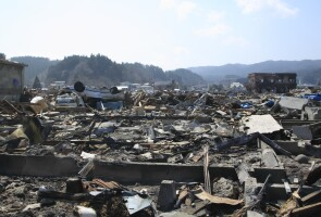 Photo of the devastation in Tohoku following the Great East Japan Earthquake and Tsunami