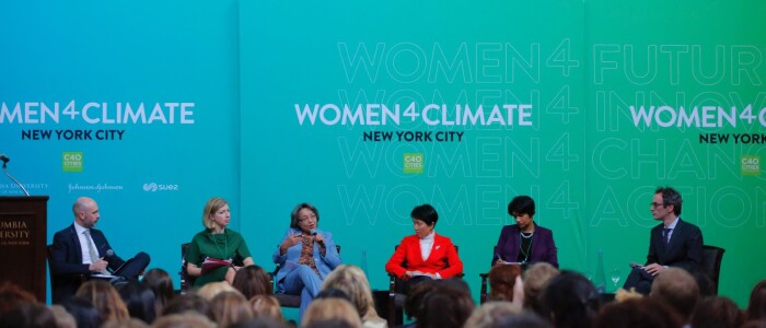 C40 Cities Women4Climate event in New York City