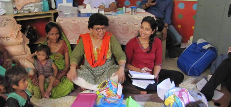 GenH finalist Karima Ladhani (right) workshops her Barakat Bundle In India