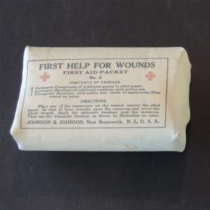 Johnson & Johnson 1898 Spanish American War First Aid Packet