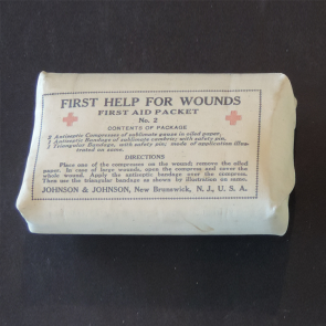 Johnson & Johnson 1898 Spanish American War First Aid Packet