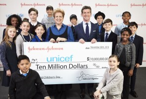 Alex Gorsky, Johnson & Johnson Chairman and CEO, and Caryl Stern, president and CEO of UNICEF USA, on World Children's Day