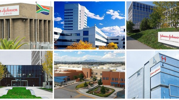 Just some of the Johnson & Johnson company locations around the world (clockwise, from top left): South Africa, USA, Switzerland, India, Mexico and China